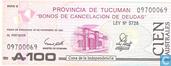 Billets de banque - Provinciaalgeld - Argentine 100 Australes 1991 (Tucuman)