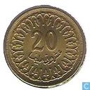 Coins - Tunisia - Tunisia 20 millim 1960 (year 1380)