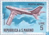 Postzegels - San Marino - vliegtuigen