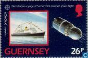 Postzegels - Guernsey - Europa – Ruimtevaart