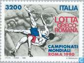 Postage Stamps - Italy [ITA] - World Championship Wrestling