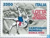 Postzegels - Italië [ITA] - WK Worstelen