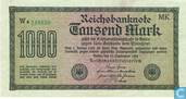 Billets de banque - Reichsbanknote - Reichsbank, 1000 Mark 1922 (75F)