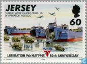 Postzegels - Jersey - Bevrijding 50 jaar