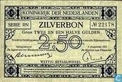 Banknotes - Zilverbon Nederland - 2,5 guilder Netherlands 1915