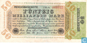 Banknoten  - Reichsbanknote - 50 Milliarden Deutsche Mark