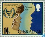 Postage Stamps - Gibraltar - Int. year of people with disabilities