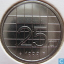 Coins - the Netherlands - Netherlands 25 cents 1999