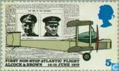Postage Stamps - Great Britain [GBR] - Flight by Alcock and Brown