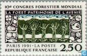 Postage Stamps - France [FRA] - Int. congress forest science