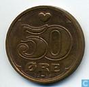 Münzen - Dänemark - Denemarken 50 Øre 1999