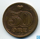 Monnaies - Danemark - Danemark 50 øre 1999