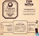 "Strips - Kuifjesbon producten - Chromo's ""Spoorwegenl"" promo-prent"