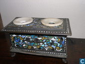 Stationery  - Inkwell - Cloisonne 10cm, apart