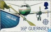Timbres-poste - Guernesey - Europe – Transports et communications