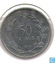Coins - Turkey - Turkey 50 kurus 1977