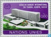 Postage Stamps - United Nations - Geneva - New building ILO