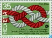 Postage Stamps - Switzerland [CHE] - Aid Workers 50 years