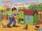 Plastic hut, educational and funny toy