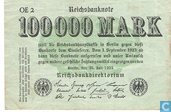 Banknotes - Reichsbanknote - German 100,000 Mark