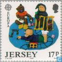 Postage Stamps - Jersey - Europe – Children's games