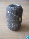 Westraven Chanoir gelbe Vase 7,5 cm Würfel