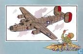 "Bandes dessinées - Kuifjesbon producten - Chromo's ""Vliegtuigen '39-'45"" 40 ""Consolidated B-24 J 'Liberator' - 1942 - USA"""