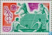 Postage Stamps - France [FRA] - Table Tennis Association