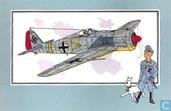 "Bandes dessinées - Kuifjesbon producten - Chromo's ""Vliegtuigen '39-'45"" 37 ""Focke-Wulf 190-A9 - 1941 - Duitsland"""