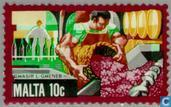 Postzegels - Malta - Economische ontwikkeling