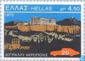 Postzegels - Griekenland - Acropalis rallye 1952-1972