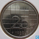 Coins - the Netherlands - Netherlands 25 cent 1989