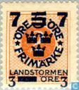 Briefmarken - Schweden [SWE] - 5. Juli # 3 + # 2 orange FEM