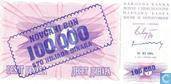 Bosnië en Herzegovina 100.000 Dinara 1993 (P34b)