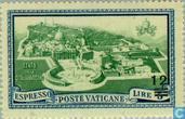 Timbres-poste - Vatican - Le pape Pie XII avec impression