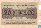 Bankbiljetten - München - Bayerische Staatsbank - München 20 Miljoen Mark