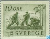 Timbres-poste - Suède [SWE] - 100 ans de chemin de fer suédois