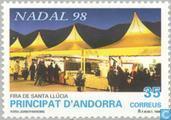 Postzegels - Andorra - Spaans - Markt