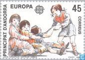 Postage Stamps - Andorra - Spanish - Europe – Children's games
