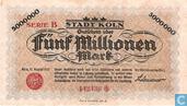 Billets de banque - Köln - Stadt - Köln 5 millions Mark