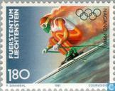 Postzegels - Liechtenstein - Olympische Spelen- Nagano