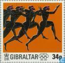 Timbres-poste - Gibraltar - Olympique 1896-1996
