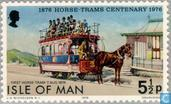 Postage Stamps - Man - 100 years horsetram