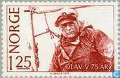 Postage Stamps - Norway - King Olaf 75 years