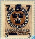 Postage Stamps - Sweden [SWE] - 7 3 5 + # FEM # 3 Brown
