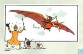 """Bandes dessinées - Kuifjesbon producten - Chromo's """"Vliegtuigen oorsp. tot 1700"""" 5"""