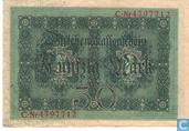 Bankbiljetten - Darlehenskassenschein - Duitsland 50 Mark (P49b)