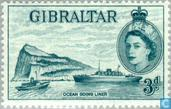 Postage Stamps - Gibraltar - Medallion Elizabeth II and various subjects