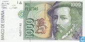 Spanje 1000 Pesetas