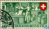 Postage Stamps - Switzerland [CHE] - Cheese factory